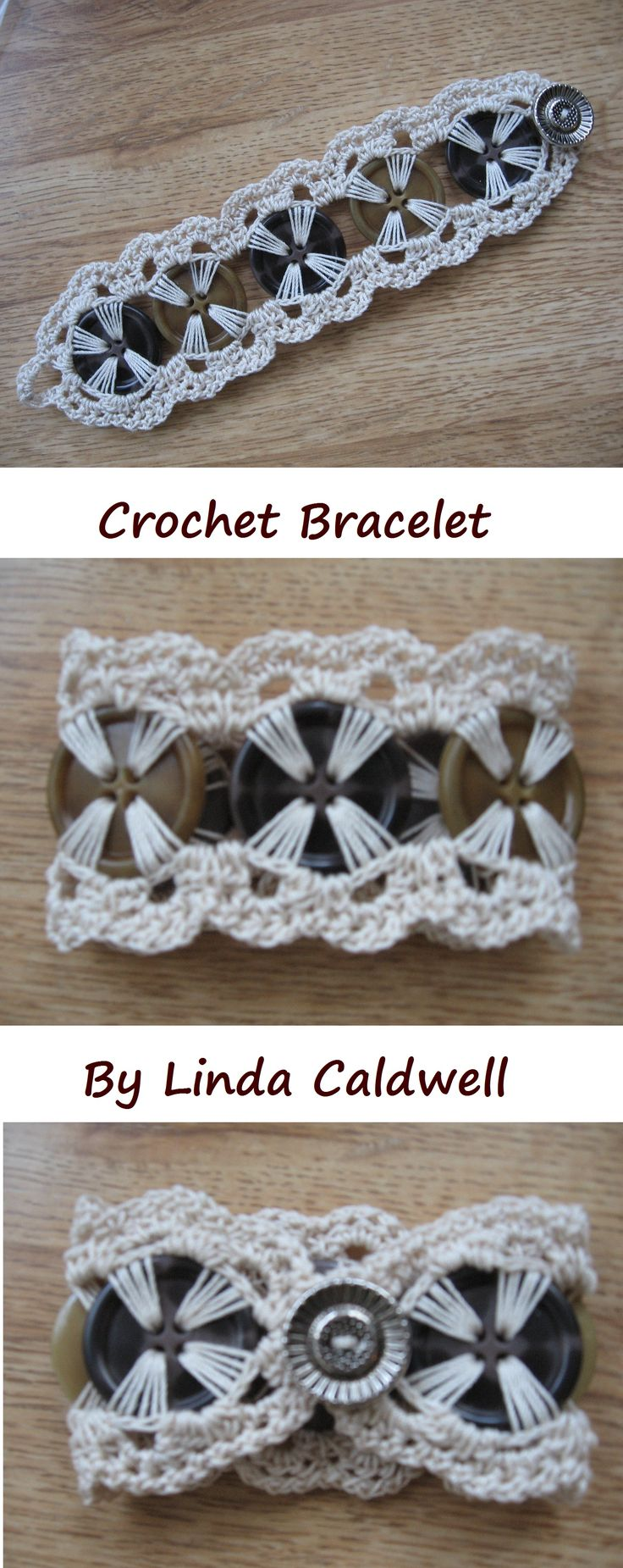 Crochet Button Bracelet