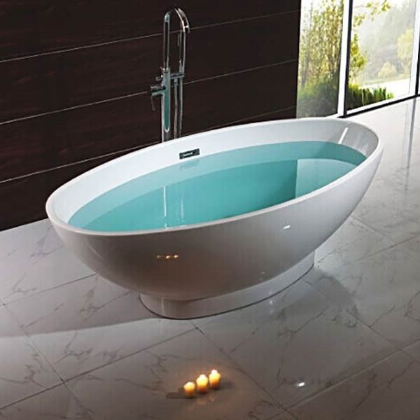 freestanding back to wall bath bi - Google Search