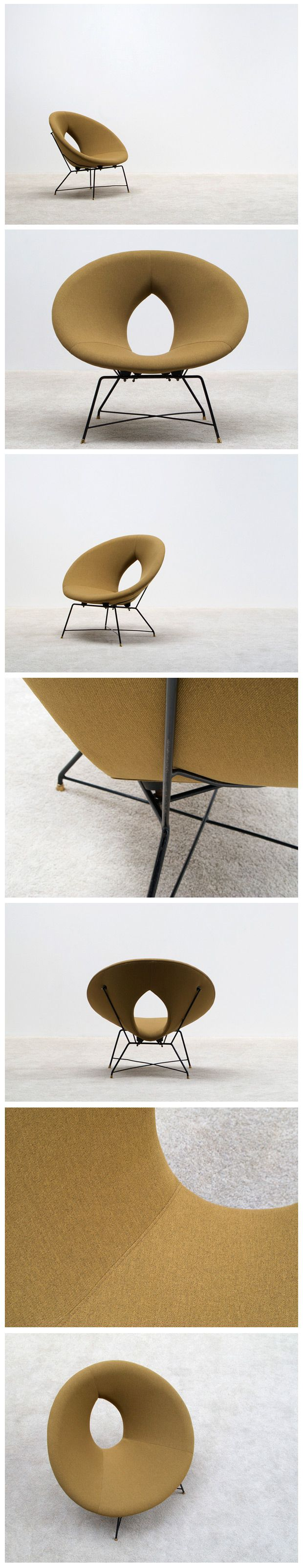 Kosmos side chair from Augusto Bozzi for Saporiti Italy,1956
