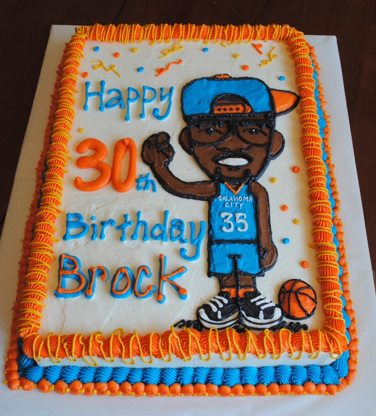 Kevin Durant and Oklahoma City Thunder Birthday Cake www  ~ 152910_Birthday Party Ideas Okc