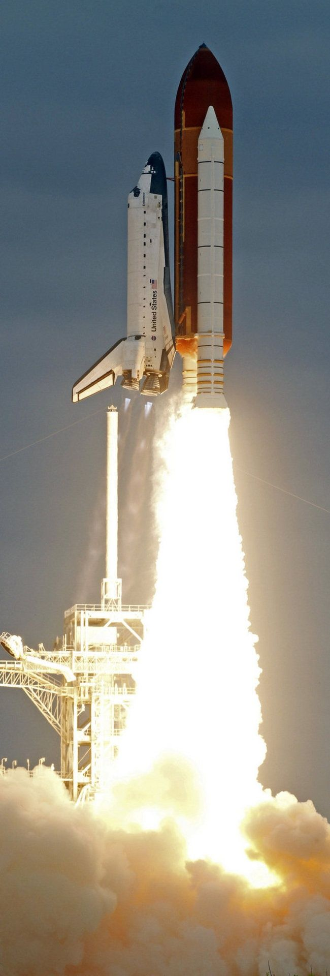 The space shuttle Endeavour lifts off from Kennedy Space Center in Cape Canaveral, Fla., Monday, May 16, 2011. The space shuttle Endeavour began a 14 day mission to the international space station.