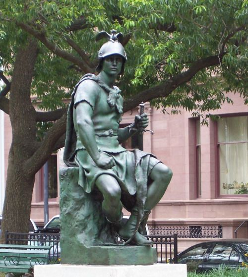 Military Courage by Paul Dubois, 1885, Mount Vernon, Baltimore, USA.