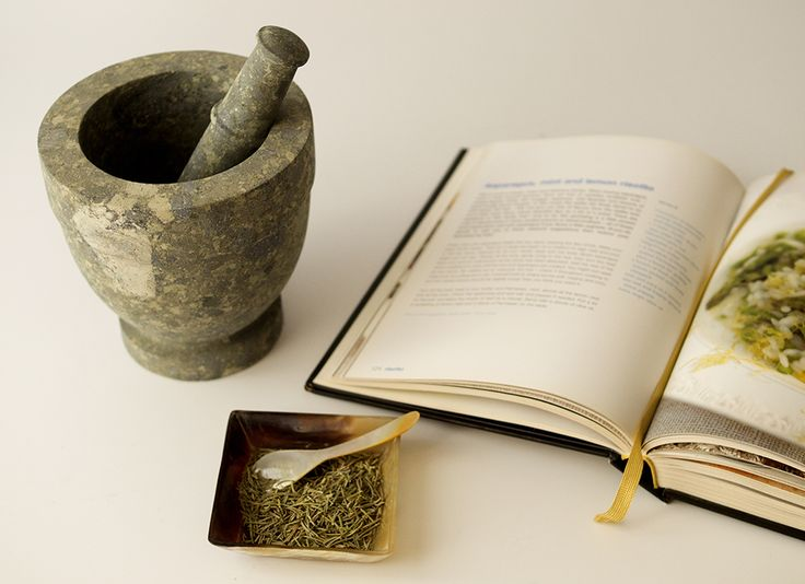 Our stone mortar to prepare delicious meals with the proper handling of herbs!