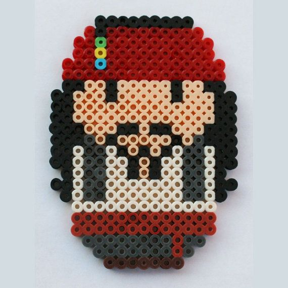 Perler Bead Chibi Bean Pirates of the Caribbean Jack by LunasRealm, $5.00