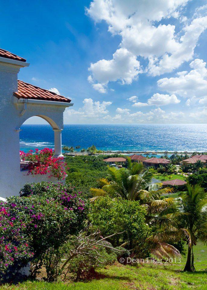 Roatan, Honduras..looks like the old Pastors house up on the hill