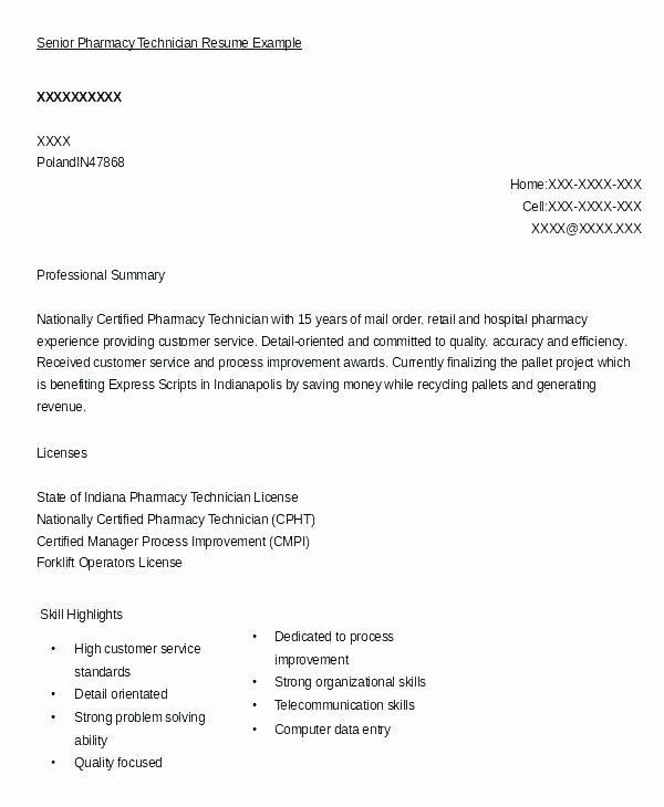 Luxury Hospital Pharmacy Technician Resume Sample Tech Senior Resume Examples Job Resume Samples Resume