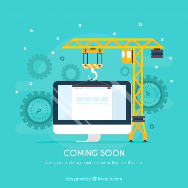 Flat under construction template Free #Vector  #Design #Computer #Template #Construction #Sign #Flat #Tools #Flatdesign #Underconstruction #Constructiontools