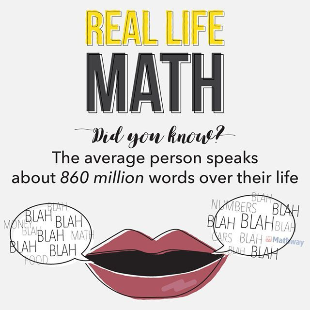 Mathway On Instagram You Just Used Up 14 Of Those Words On This Realmath Fact Didyouknow Lifetime Stats Numbers Wordup Math Facts Math Word Up