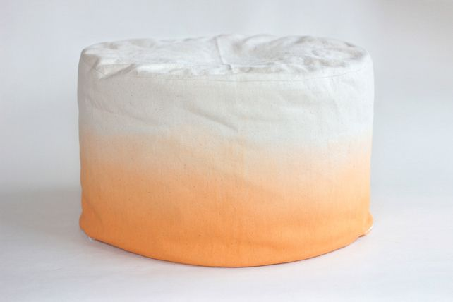 Ombre Autumn Orange - MEDIUM Bean Bag - Foot stool cover £80.00