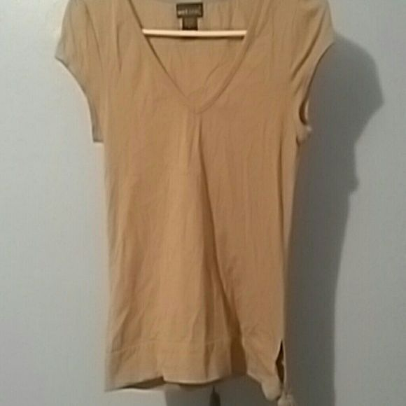 Camel Top w/ bottom tie Camel toned top from Wet Seal with cute tie on bottom left of shirt.  Looks great with jeans and boots! Wet Seal Tops Tees - Short Sleeve