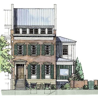 rowhouse of the decade, floor plan is amazing (southern living 2010 idea house)