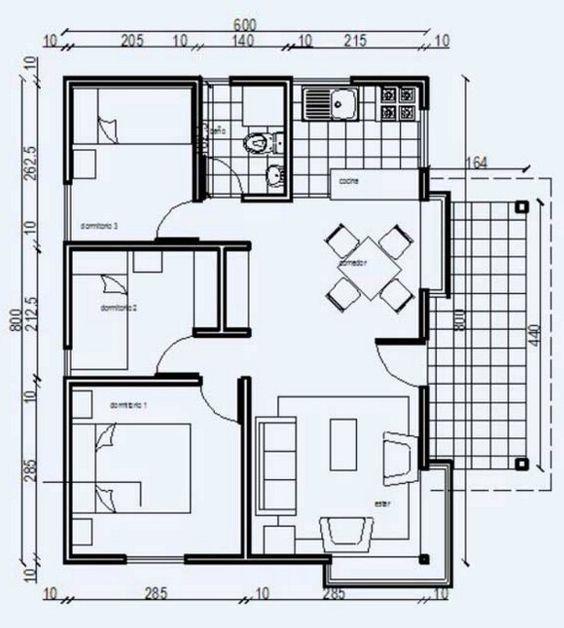 m s de 25 ideas incre bles sobre planos de casas economicas en pinterest planos de viviendas. Black Bedroom Furniture Sets. Home Design Ideas
