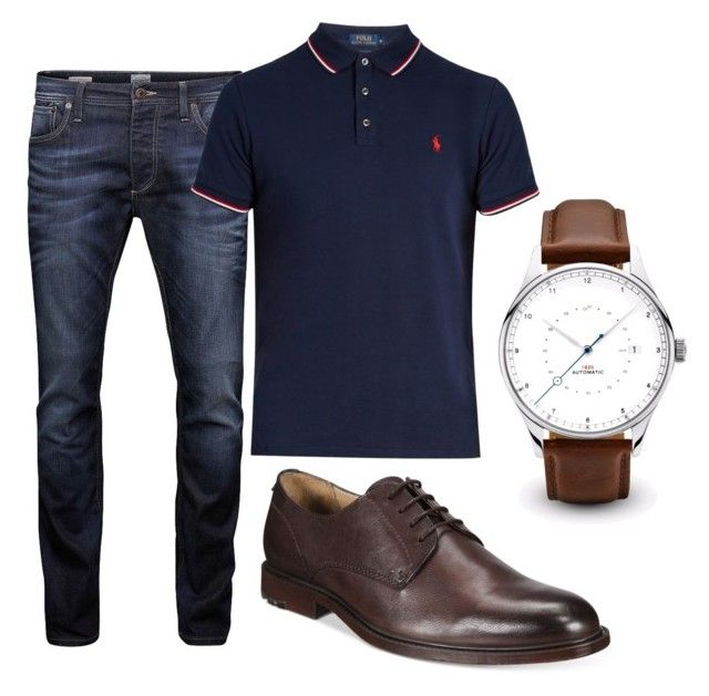 """Untitled #36"" by lorenachavarria on Polyvore featuring Jack & Jones, Polo Ralph Lauren, BOSS Orange, men's fashion and menswear"