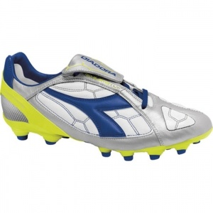 Diadora DD-Eleven LT MG 14 Soccer Cleats Mens Silver Leather - ONLY $84.95