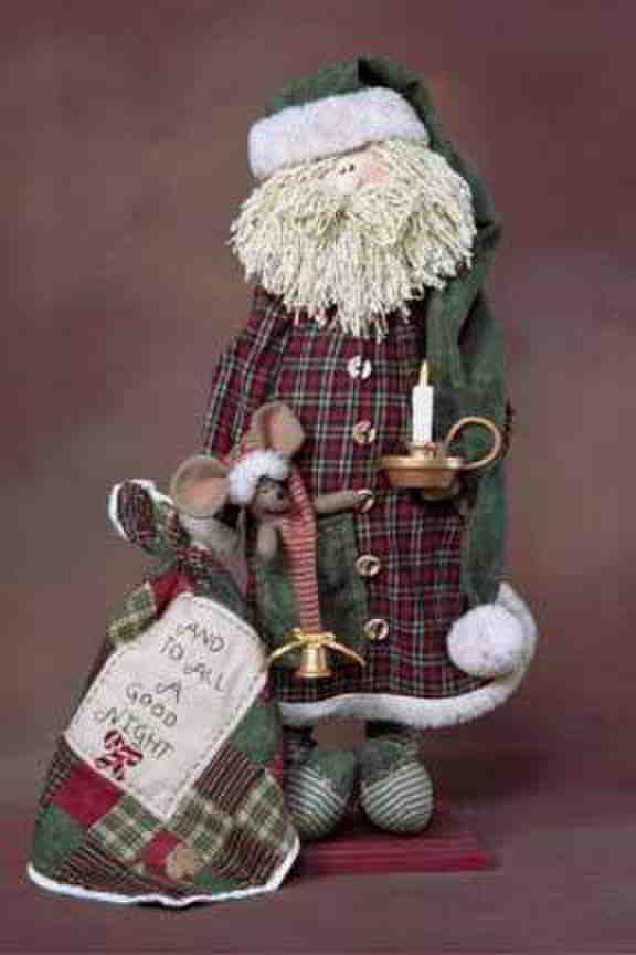 Santa Claus con raton country