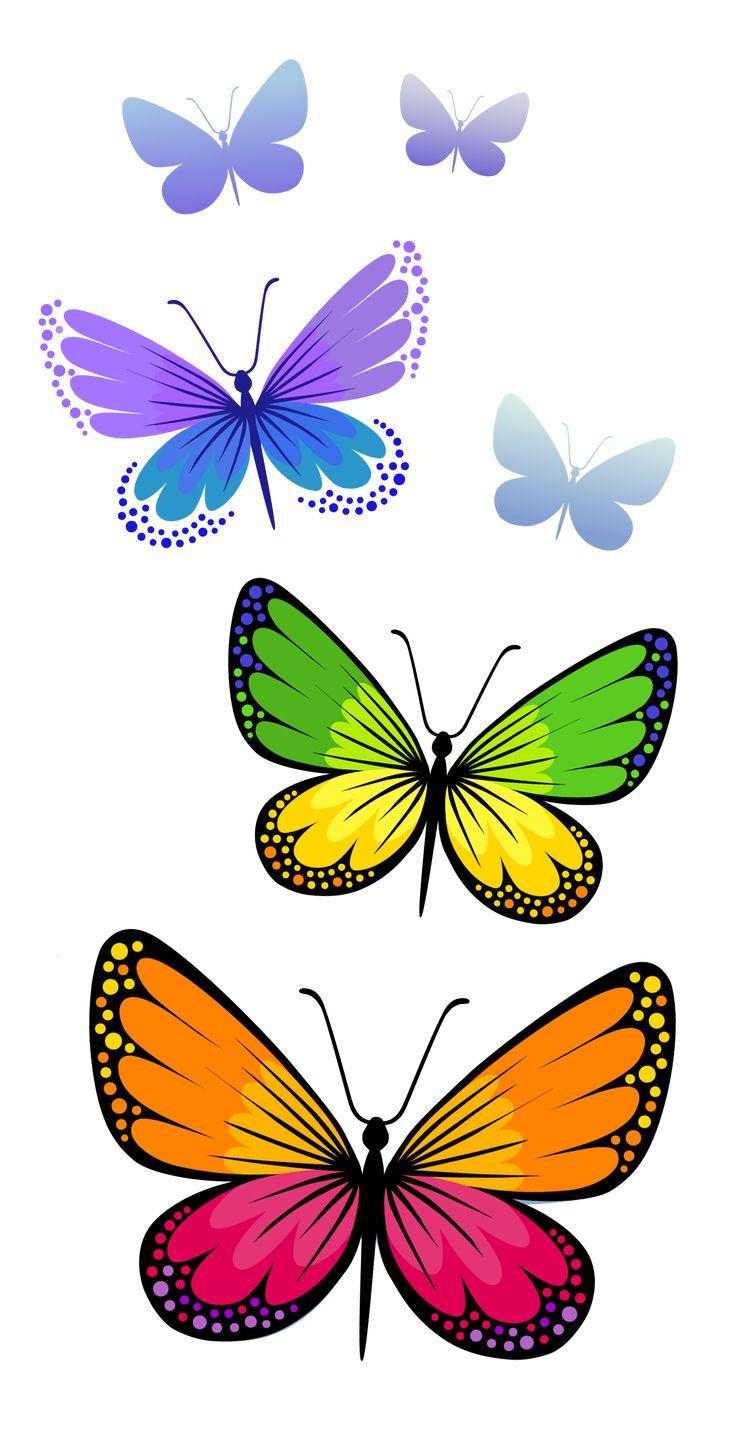 Butterflies Composition PNG Clipart Image