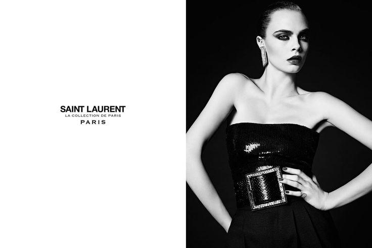 Cara Delevingne photographed by Hedi Slimane for Saint Laurent Campaign