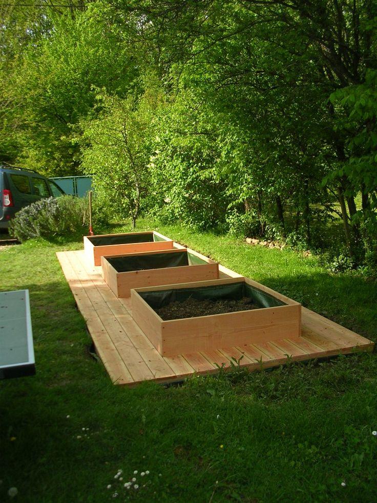 jardin en carr recherche google jardin pinterest. Black Bedroom Furniture Sets. Home Design Ideas