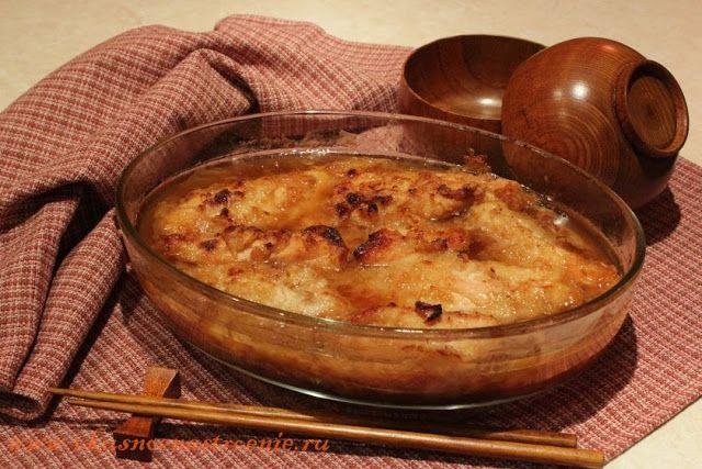 Курица , запеченная с соусом терияки