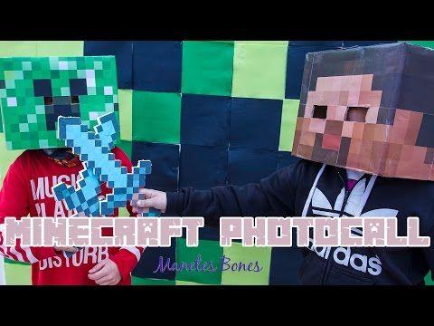 Cómo hacer un photocall de Minecraft con servilletas de papel | Manetes Bones