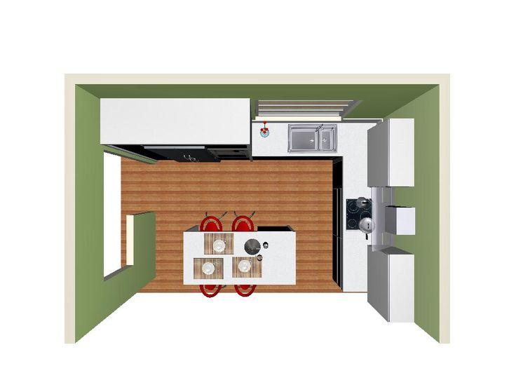 3d modern kitchen, kitchen island, μοντερνα κουζινα, νησιδα, παγκος τραπεζι