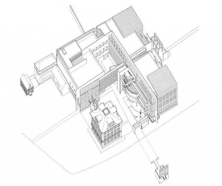 Richard Meier Frankfurt Museum axonometric