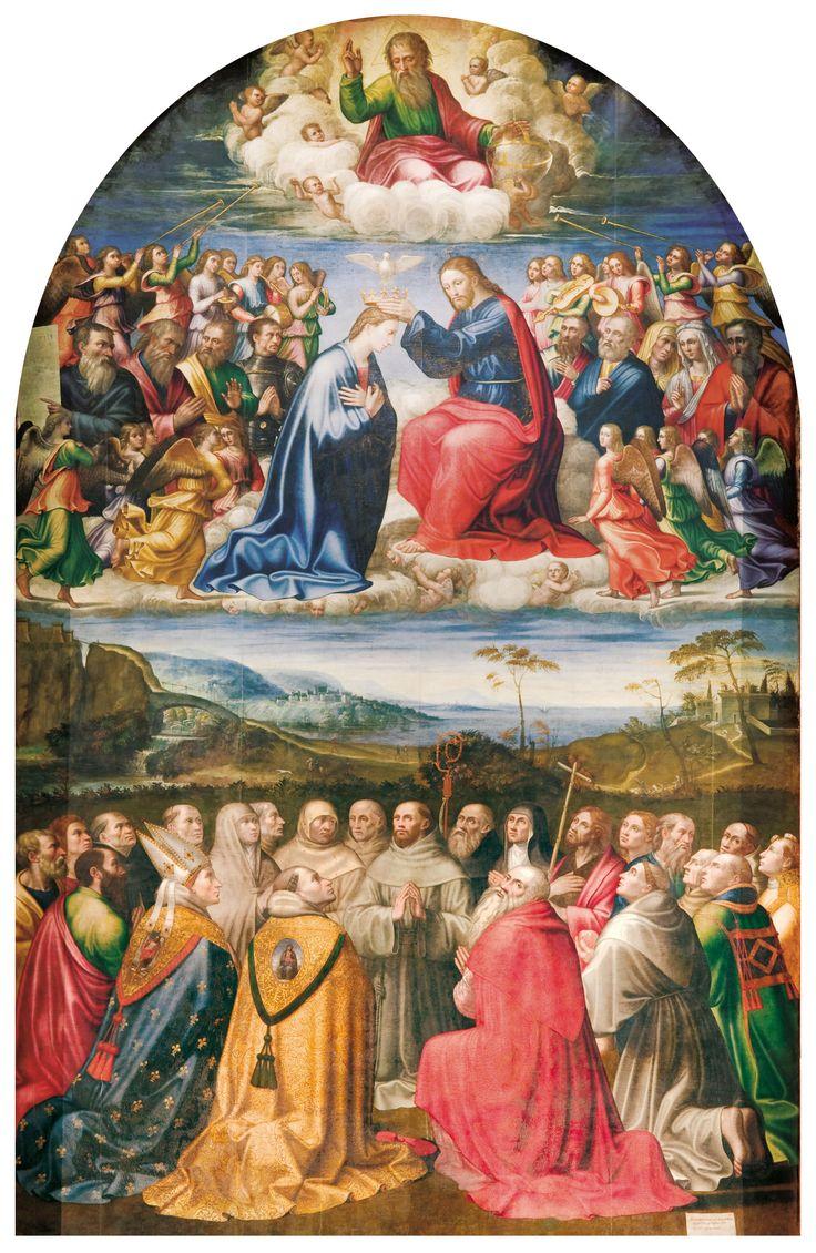 Jacopo Siculo 1539 - 1541 Incoronazione della Vergine, Norcia, Auditorium di S. Francesco