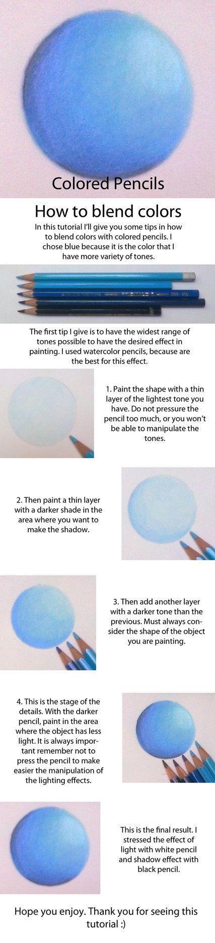 Colored Pencils - Blending Tutorial