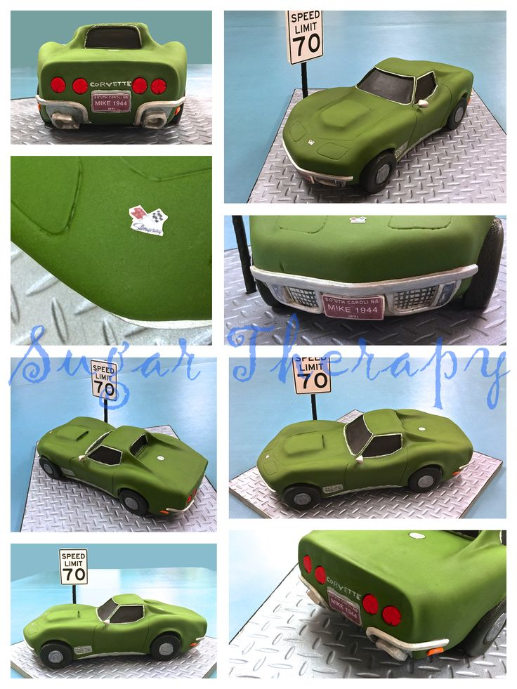 1971 Corvette Stingray car cake by Sugar Therapy.