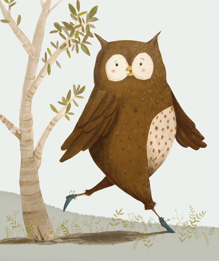 Owl art {via samarahardyillustration}