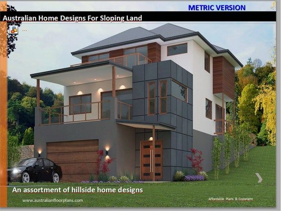 Hillside House Floor Plans Ready Made House Plans House Plans Australia Affordable House Plans Sloping Lot House Plan