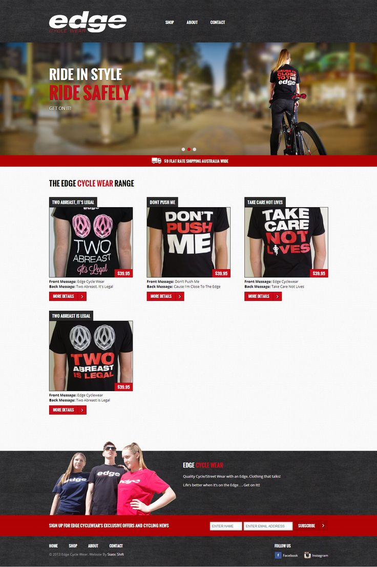 We design for Edge Cycle Wear