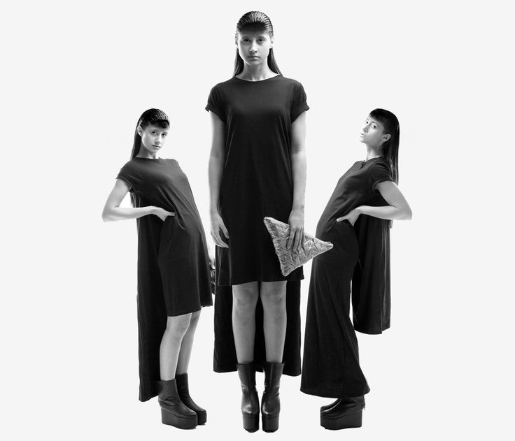 "Double Tube Dress from ""OKKULT"", the 2013 collection by swiss/swedish designer SARA BURKHARD."