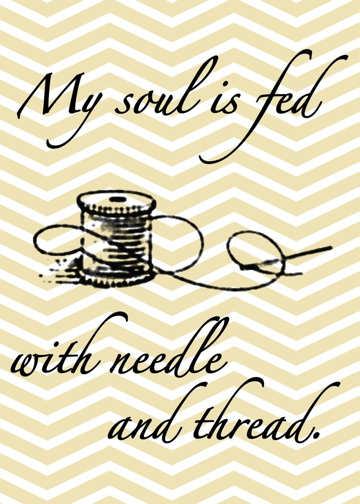 needle and thread free printable
