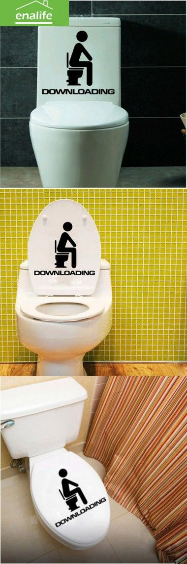 11 best Toilet wall decals images on Pinterest | Vinyl wall stickers ...
