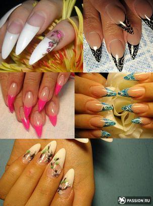 Дизайн на острые ногти фото