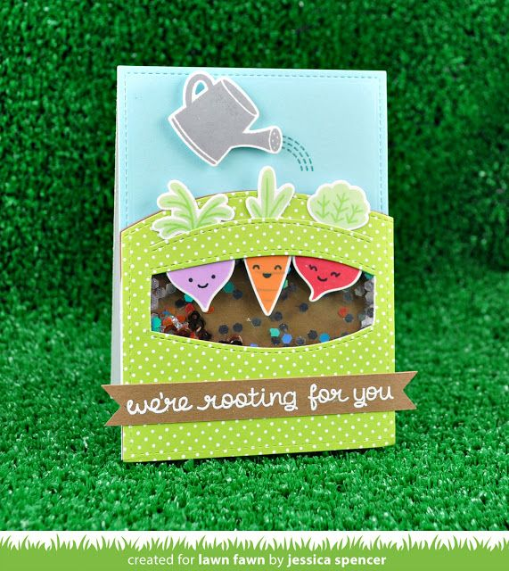 the Lawn Fawn blog: Rooting For You Card by Jessica Spencer.