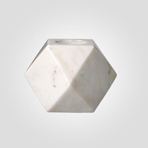 Bloomingville ljuslykta i marmor - Ø9cm H9cm