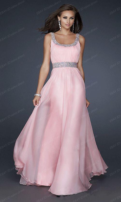 Neue Chiffon-Abend-formale Partei-Ballkleid-Brautjungfer Kleid Stock Größe 34-44