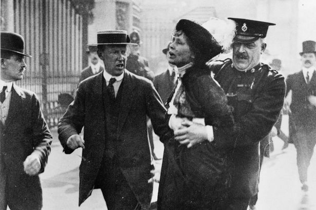 This picture portrays how Daisy was arrested after investigations were made prior to the murder of her two husbands and son.