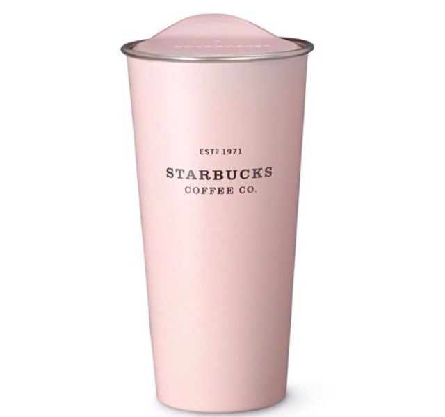 starbucks 2015 spring stainless steel to go pink tumbler. Black Bedroom Furniture Sets. Home Design Ideas