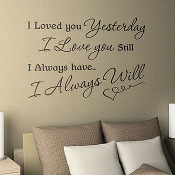 Wall LetteringWall Art, I Love You, Lovequotes, Wall Decals, Wall Quotes, Wall Words, Master Bedrooms, Love Quotes, Bedrooms Wall