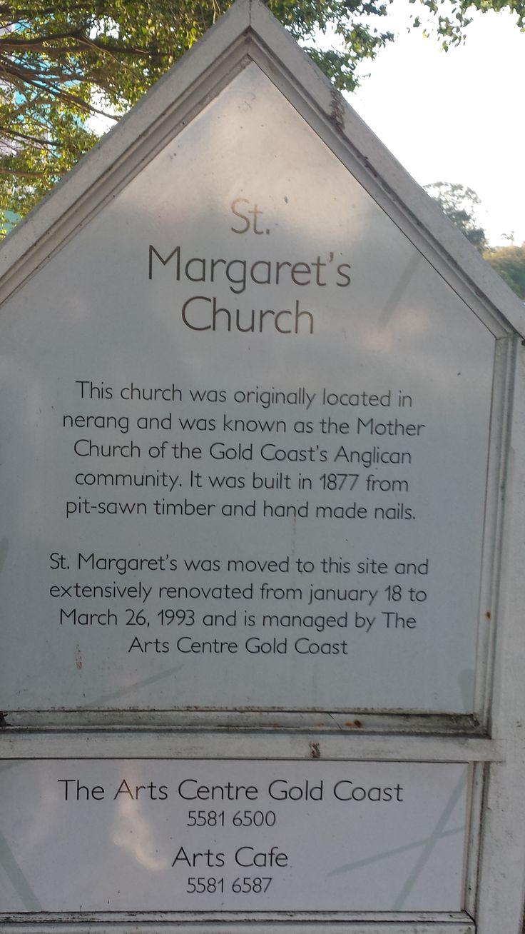 Commemorative plaque of St Margaret's Church