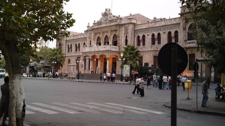 Al Hijaz Train Station in Damascus