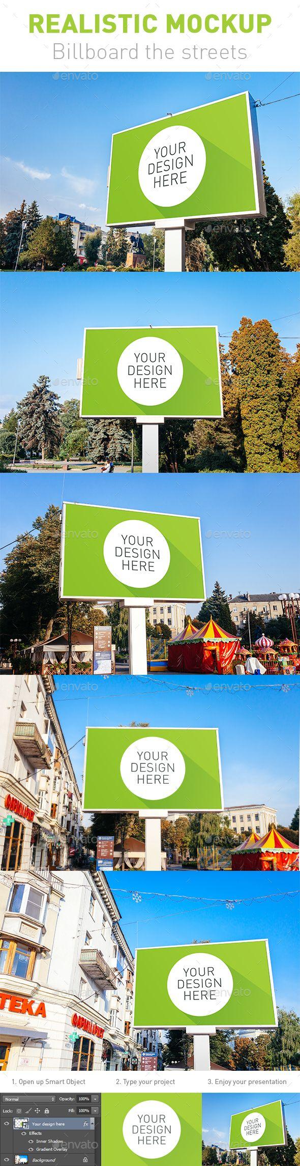 5 Realistic Mockup  Billboard the Streets (Stationery)
