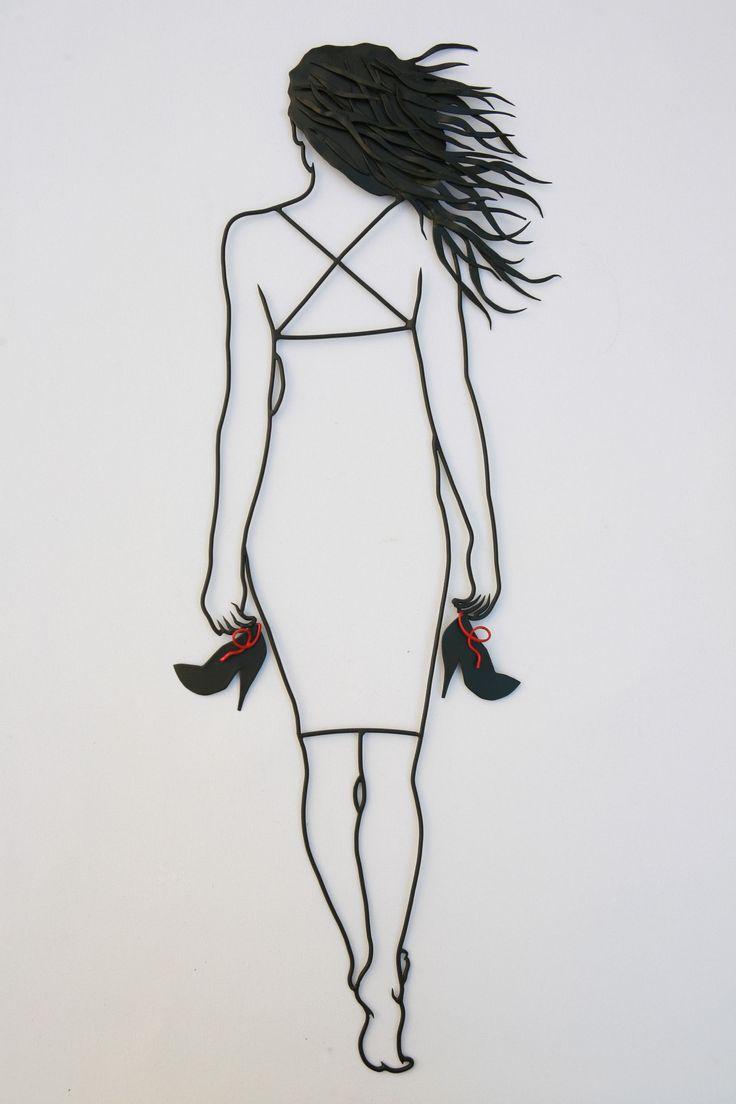 wire art...#wire #wireart #girl #beauty #greece #greekart #metalsheet