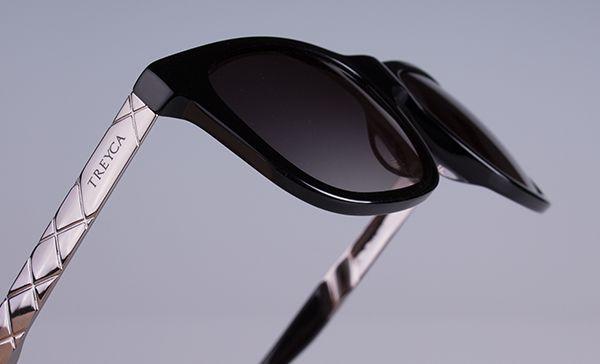 Treyca Wayfarer polished grey sunglasses. #Treyca #Sunglasses
