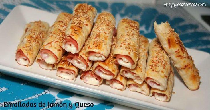 Solo con ver estos enrollados de jamón y queso ya apetece comerlos. Sigue con detalle esta receta del blog Y HOY QUÉ COMEMOS.
