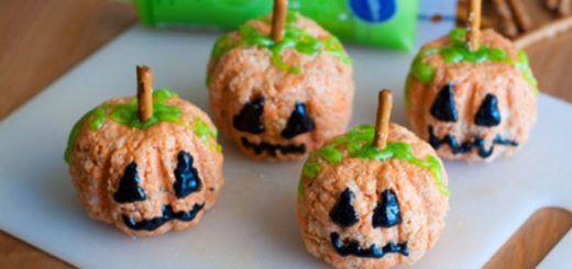 Украшения стола к празднику Хеллоуин: сладкие тыковки
