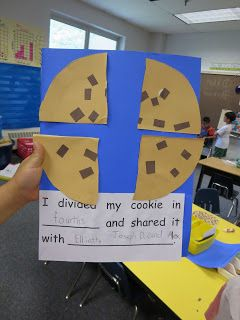 Over the past two weeks we have been talking about fractions. Our curriculum involves teaching halves and fourths. We talked about fractions...